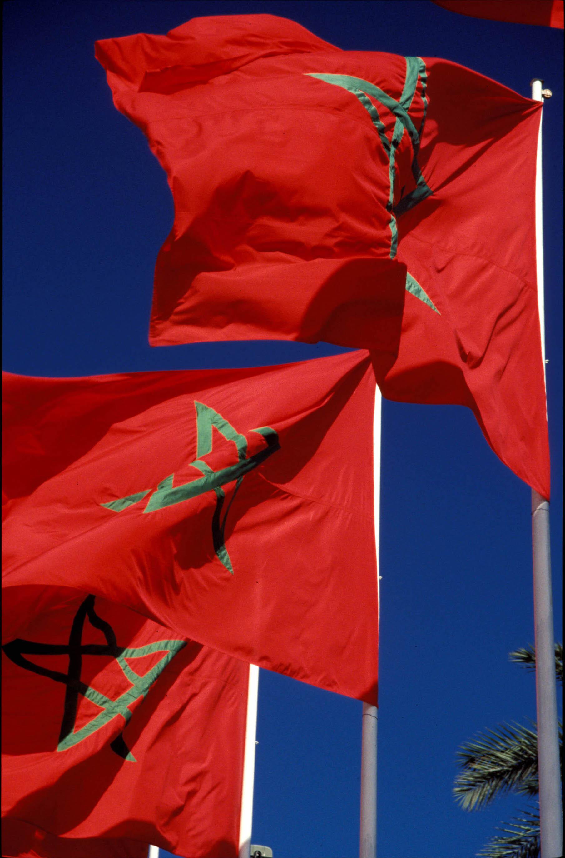 Morocco Marrakech flags